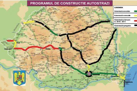 """Harta autostrazilor din Romania. Iasi – Tg. Mures apare pe la """"in pregatire"""""""